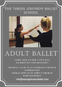 Introducing our new ADULT BALLET CLASSES